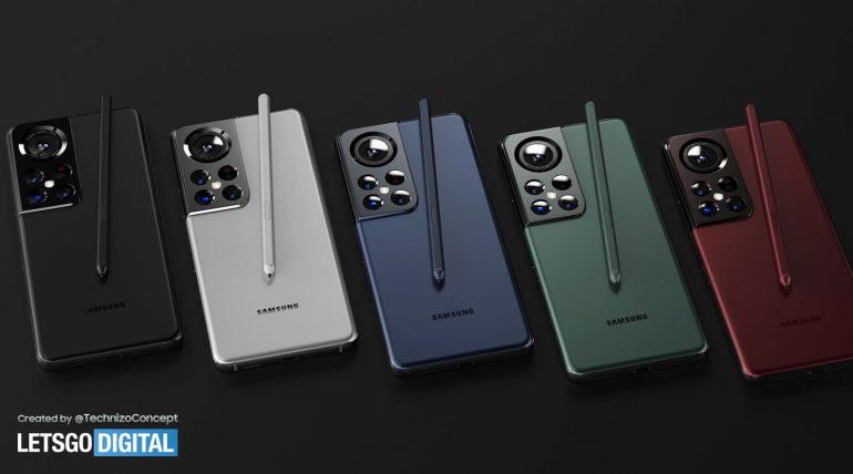 Galaxy S22 Ultra rendu
