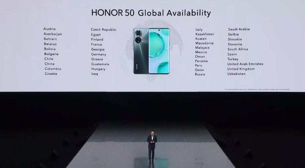 honor 50 disponibilité pays