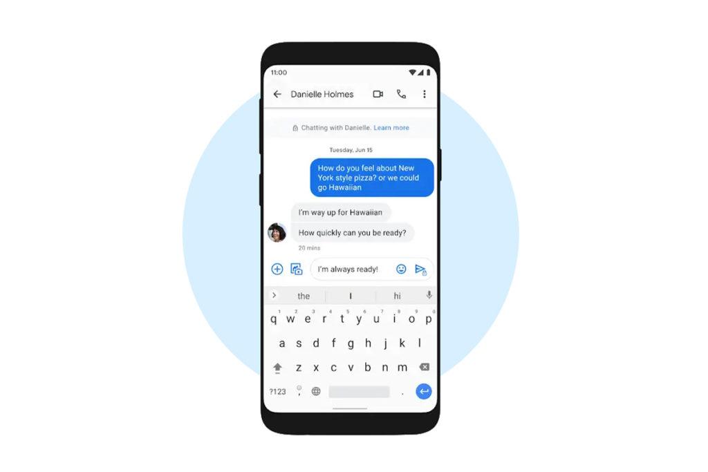 chiffrement de bout en bout google messages