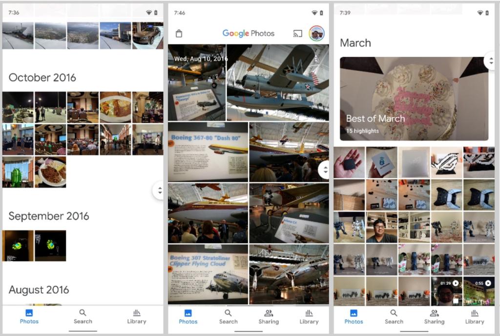 google photos nouvelle interface