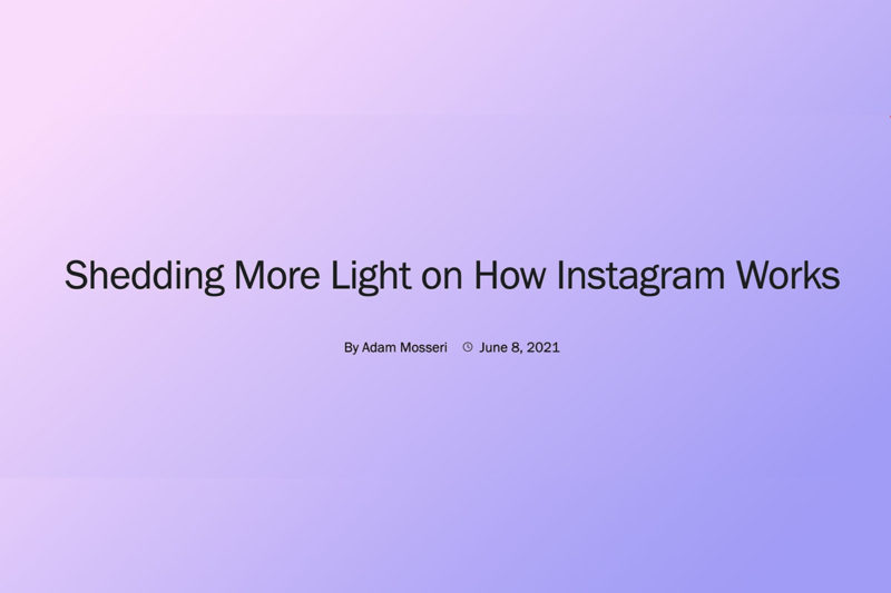 instagram algorithme