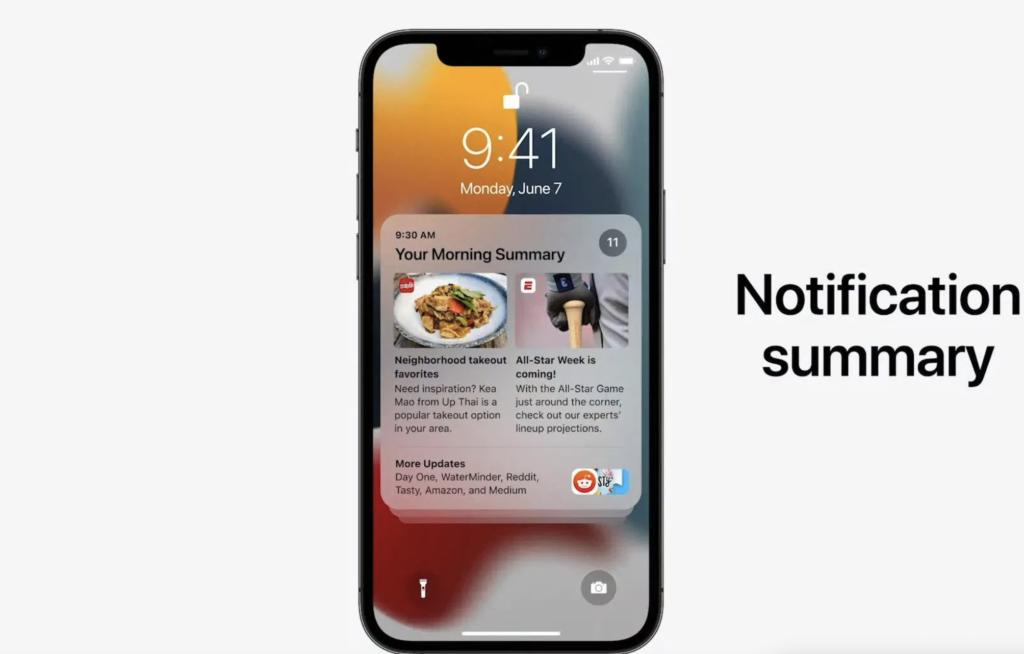 notifications summary ios 15