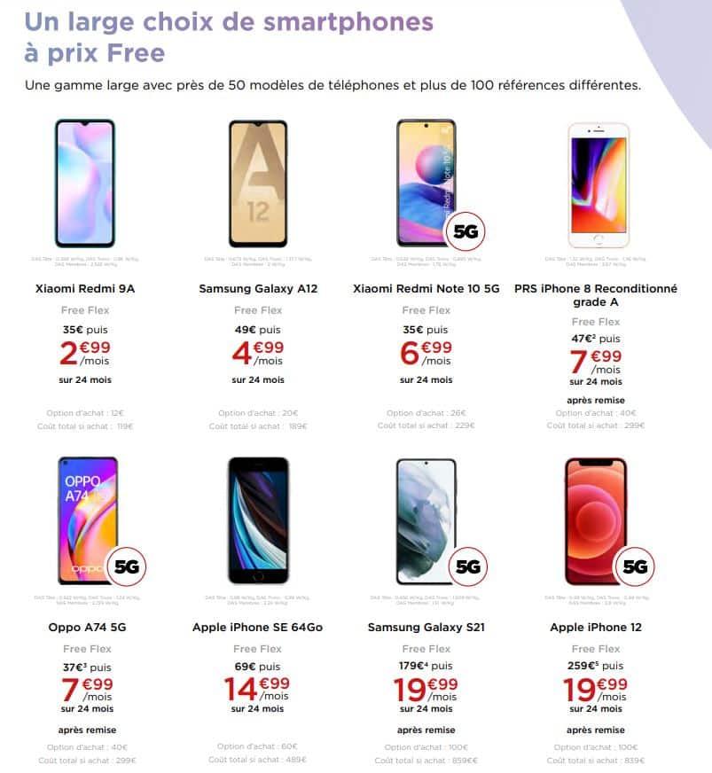 free flex smartphones