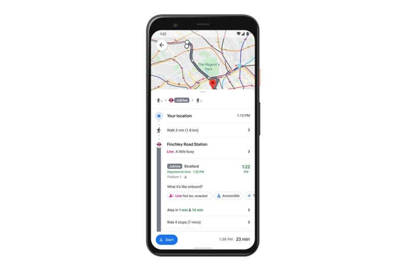 google maps outil affluence transport
