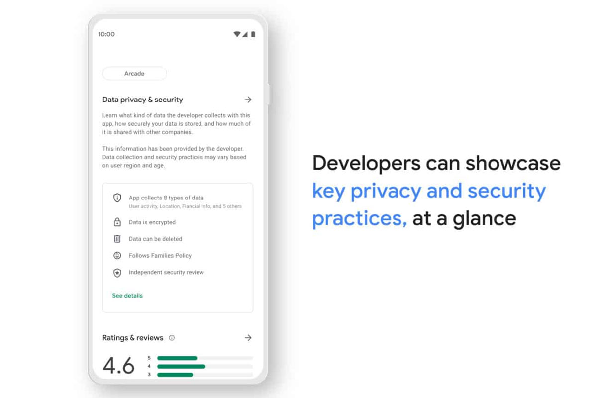 play store section vie privée