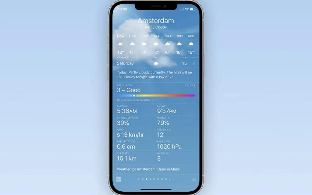 ios 14.7 qualité de l'air météo