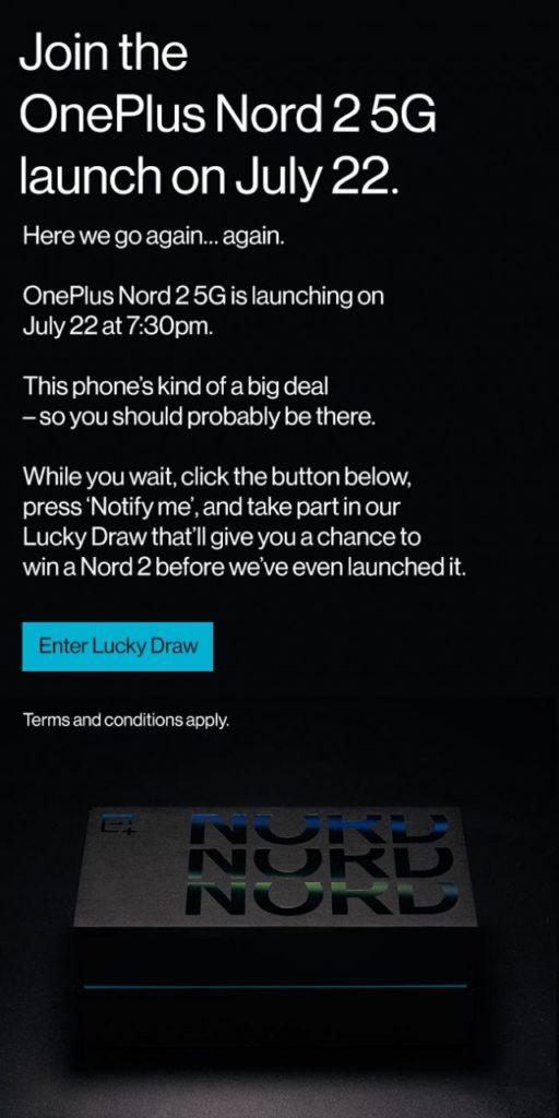OnePlus Nord 2 5G affiche