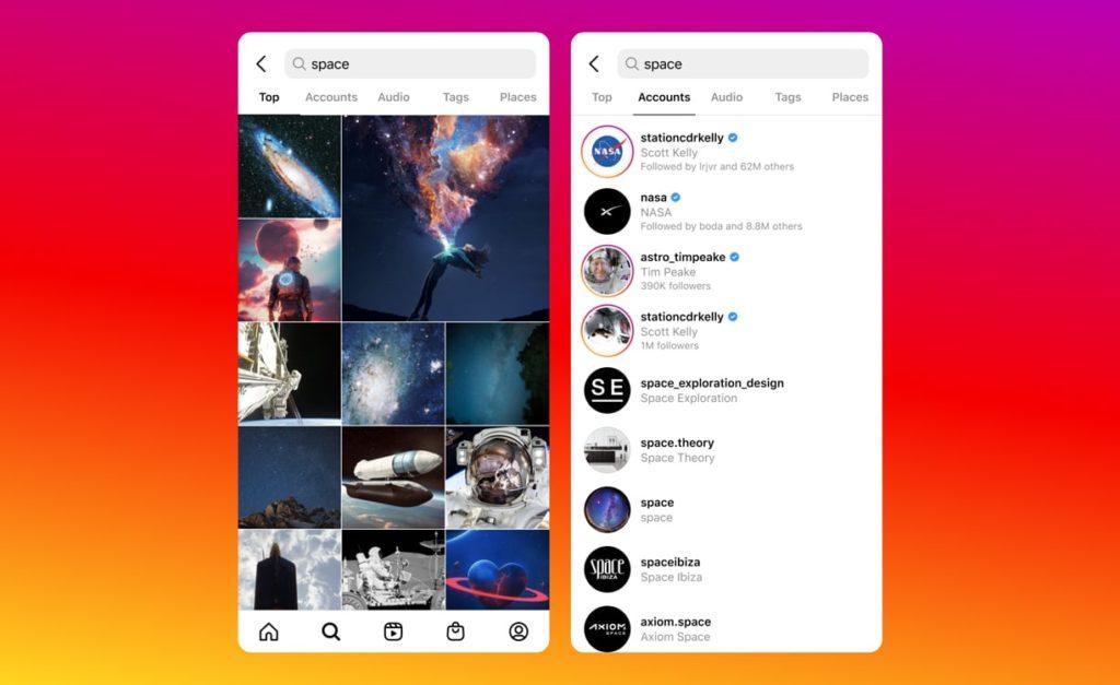 Instagram Recherche