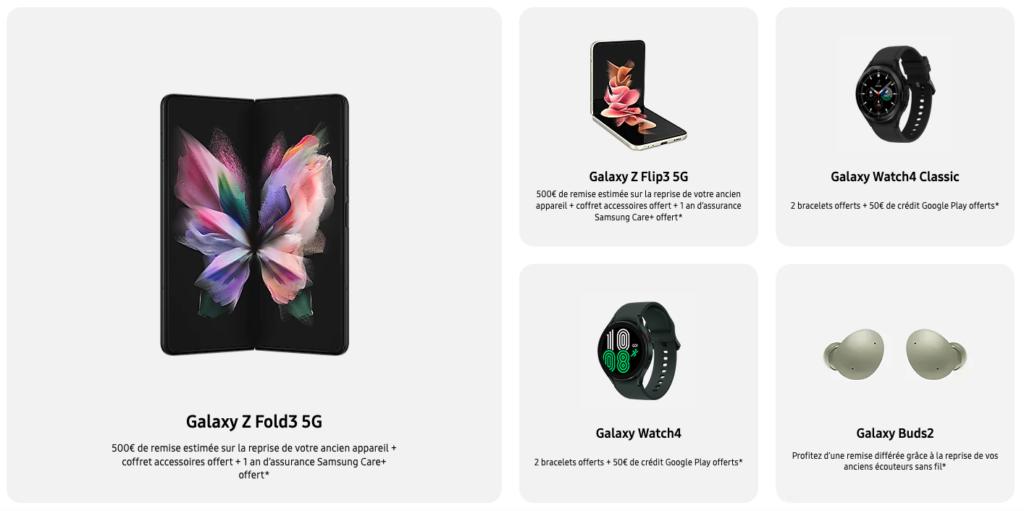 Nouveaux produits Samsung