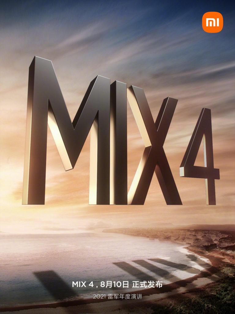 Affiche Xiaomi Mi Mix 4