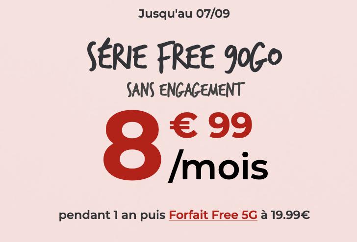 free mobile forfait 90 Go promo