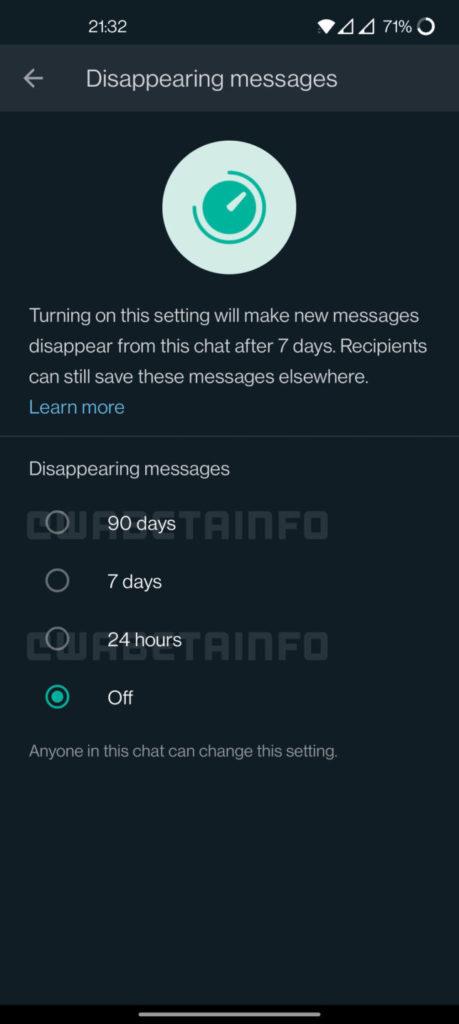 whatsapp 90 jours